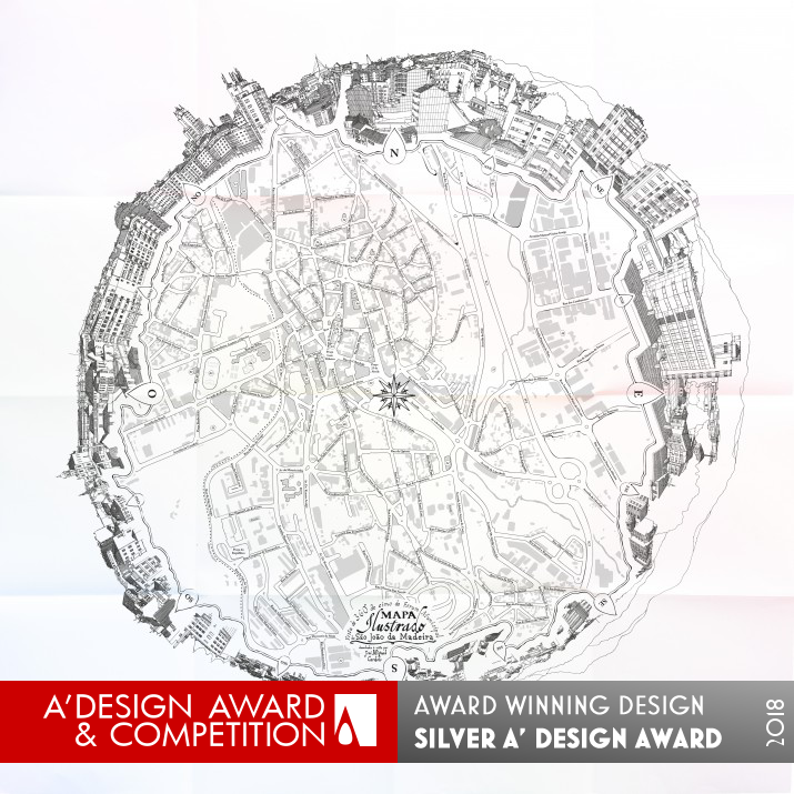 Illustrated Map of São João da Madeira - Silver A DESIGN AWARD 2018