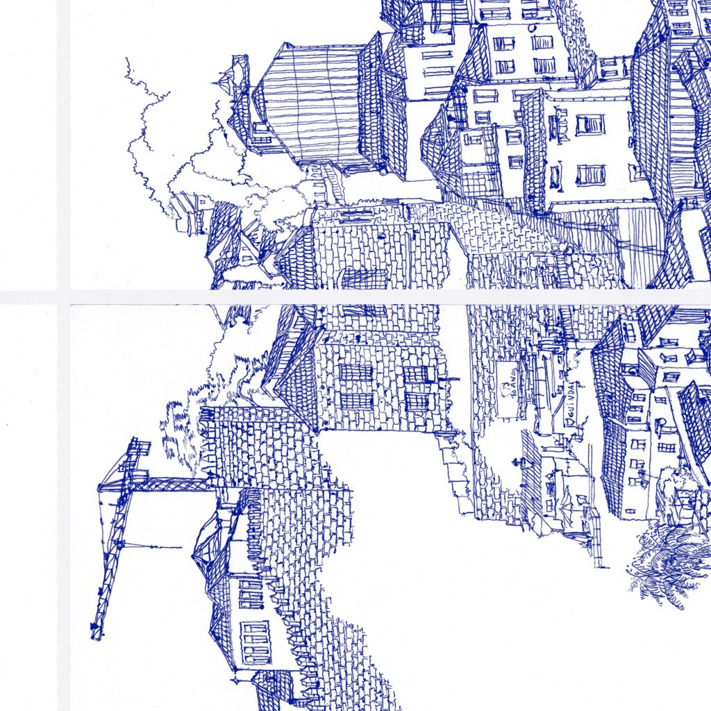 Map of Dom Luiz I Bridge Detail 3