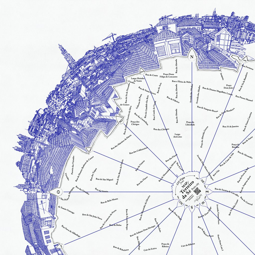 Terreiro da Sé Map | Mapa do Terreiro da Sé. Map. Giclée Print on Hahnemühle Photo Rag