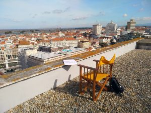 My workstation while drawing for the Panoramic Drawing View Aveiro